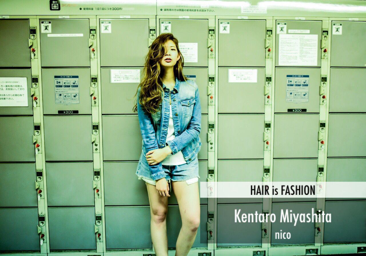 春 ストリート パンク ロングヘアスタイルや髪型の写真・画像