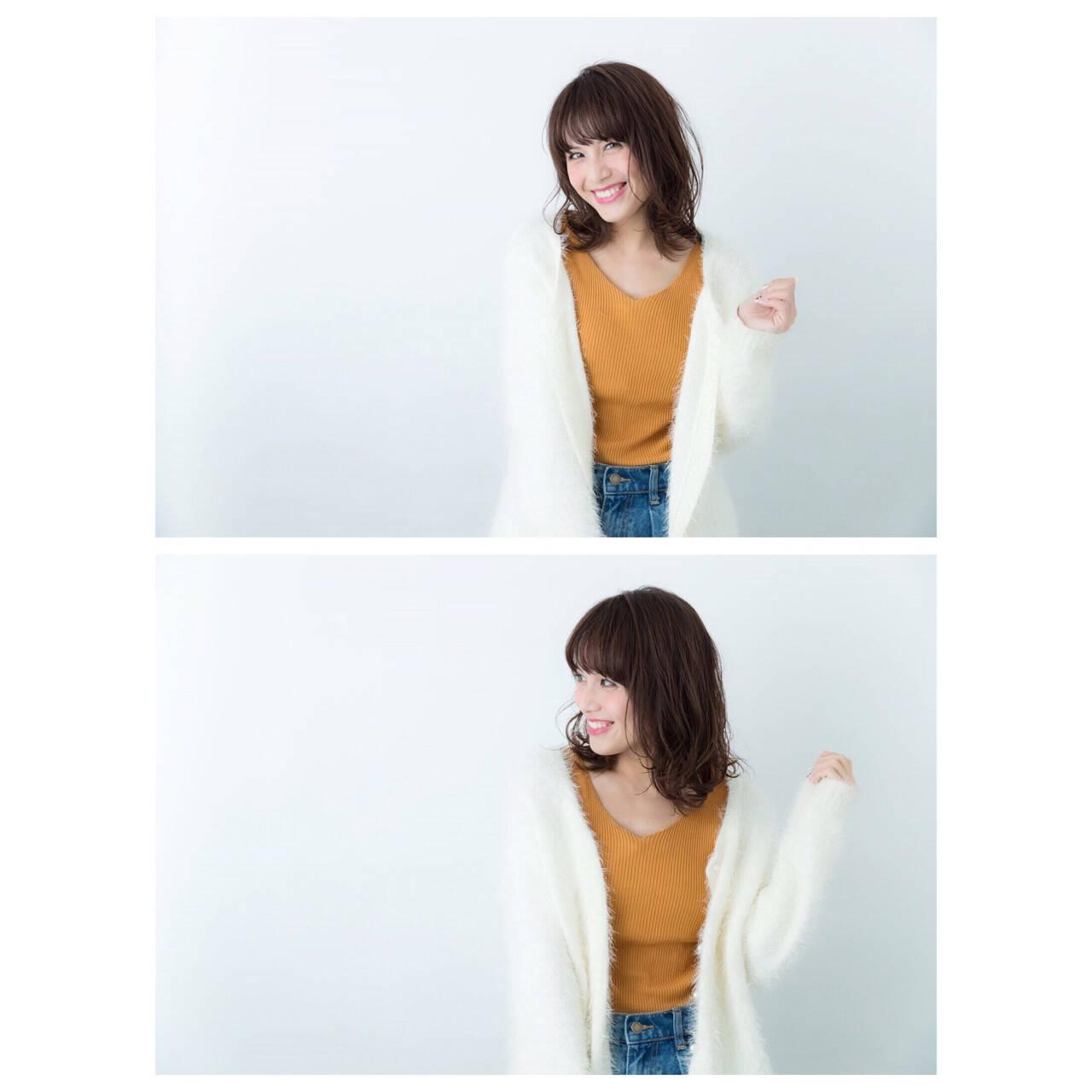 大人女子 大人かわいい 抜け感 ミディアムヘアスタイルや髪型の写真・画像