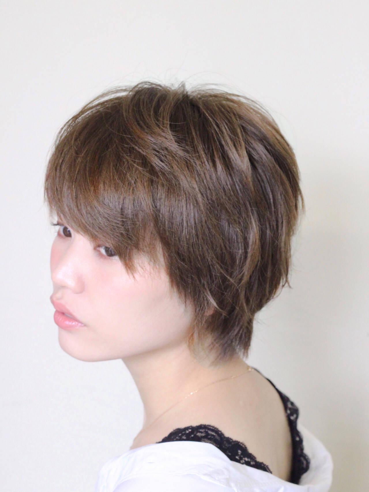 大人可愛い ナチュラル ショート ベリーショートヘアスタイルや髪型の写真・画像