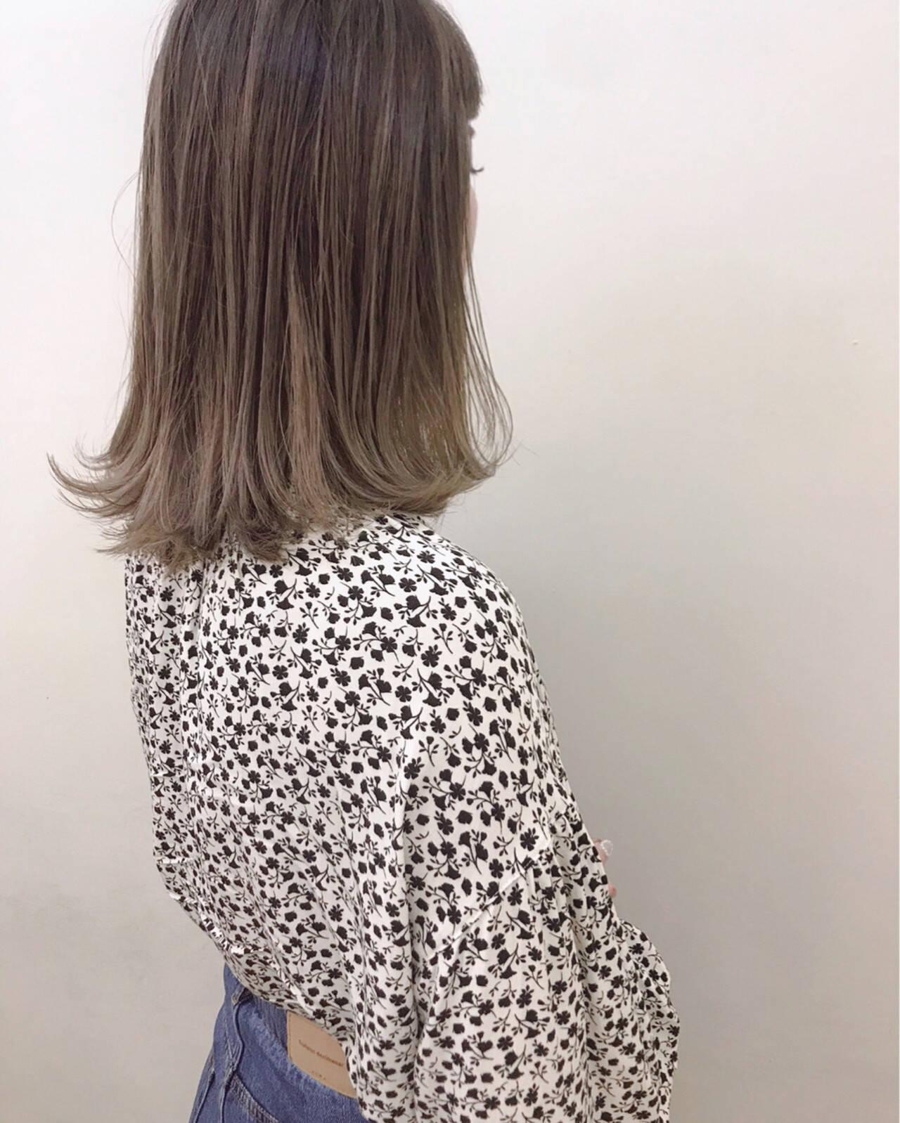 ブリーチ ハイライト ナチュラル 大人かわいいヘアスタイルや髪型の写真・画像