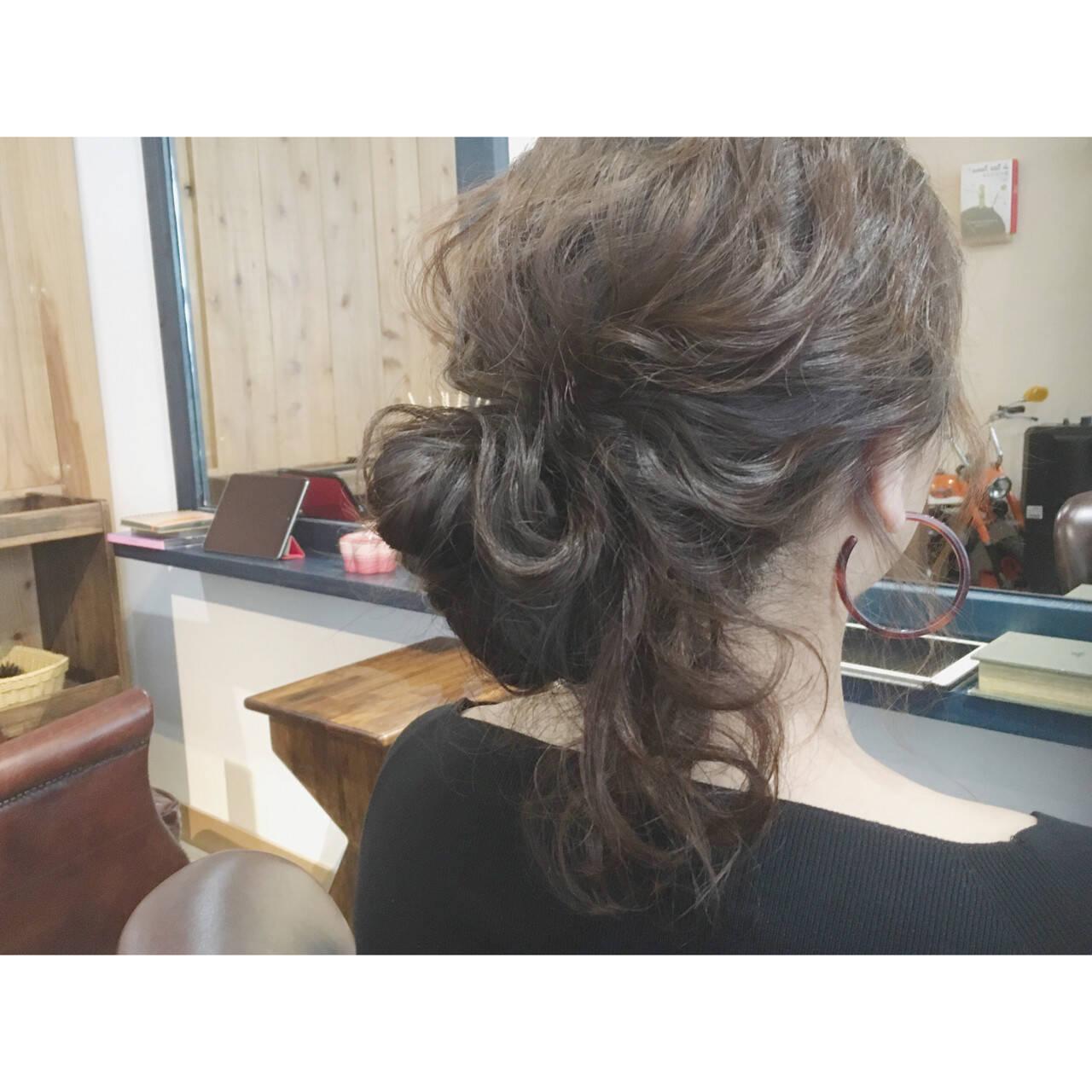 ゆるふわ ロング デート ヘアアレンジヘアスタイルや髪型の写真・画像