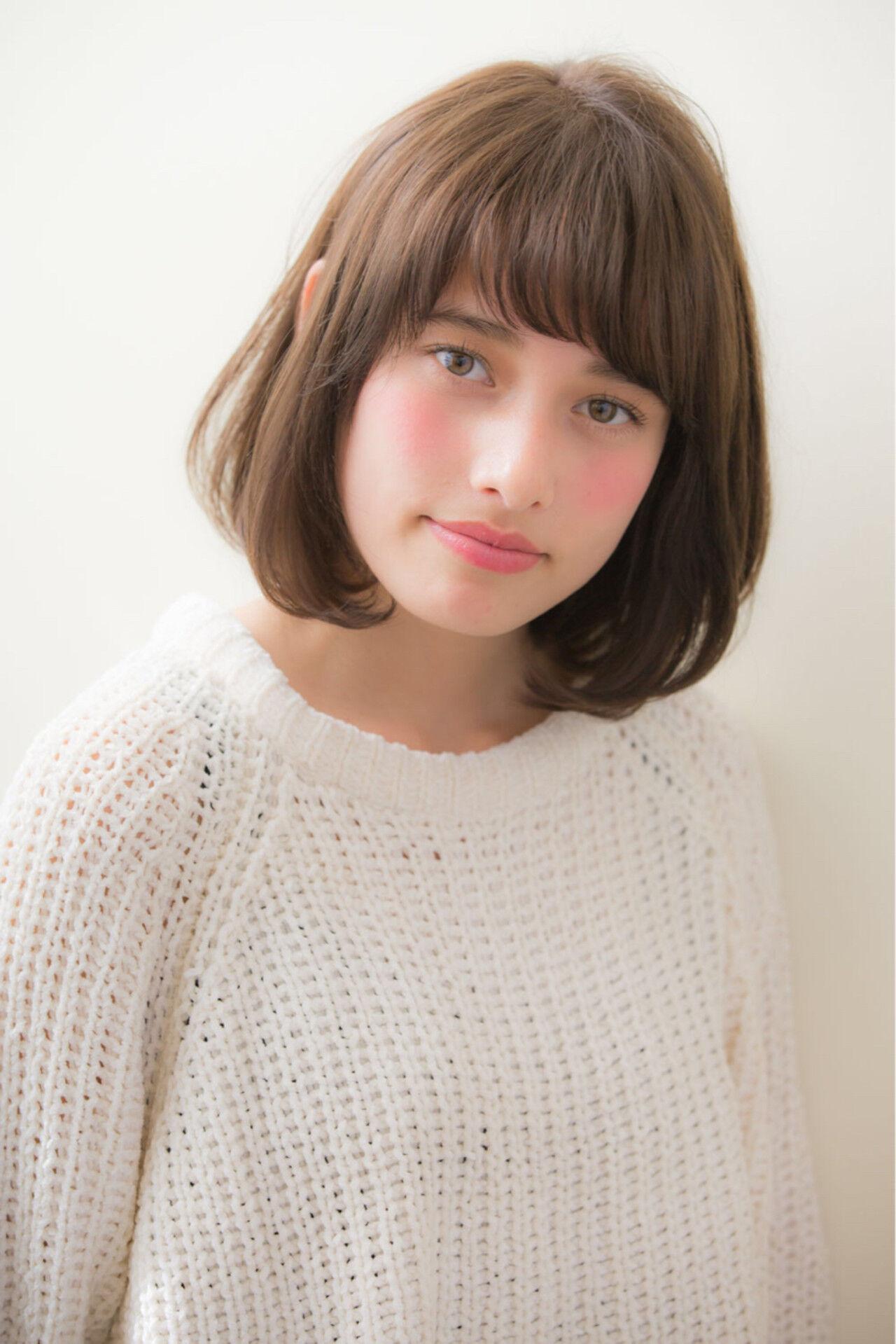 デート ボブ 色気 デジタルパーマヘアスタイルや髪型の写真・画像