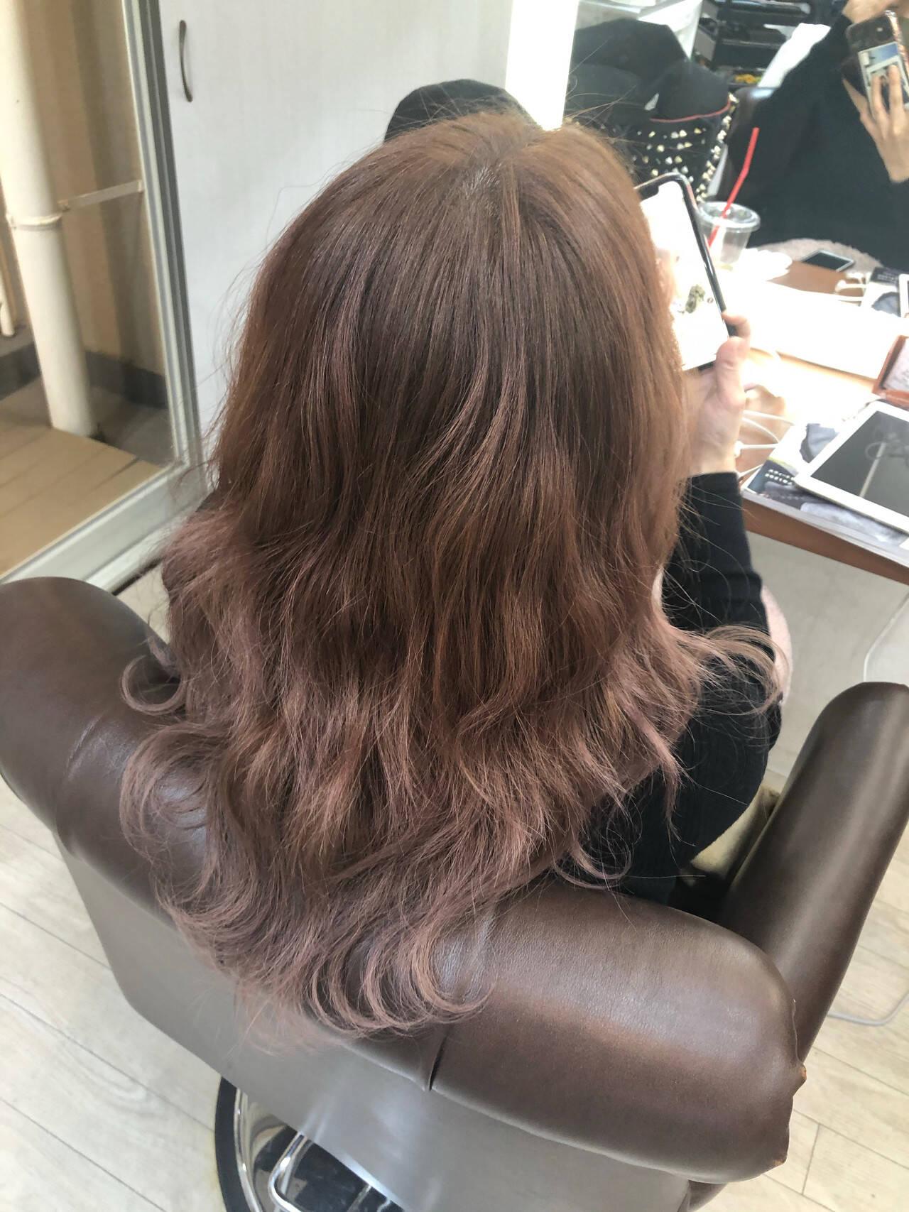 圧倒的透明感 フェミニン ブリーチなし 透明感カラーヘアスタイルや髪型の写真・画像