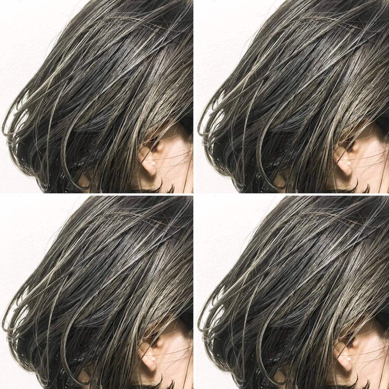 こなれ感 色気 切りっぱなし ボブヘアスタイルや髪型の写真・画像
