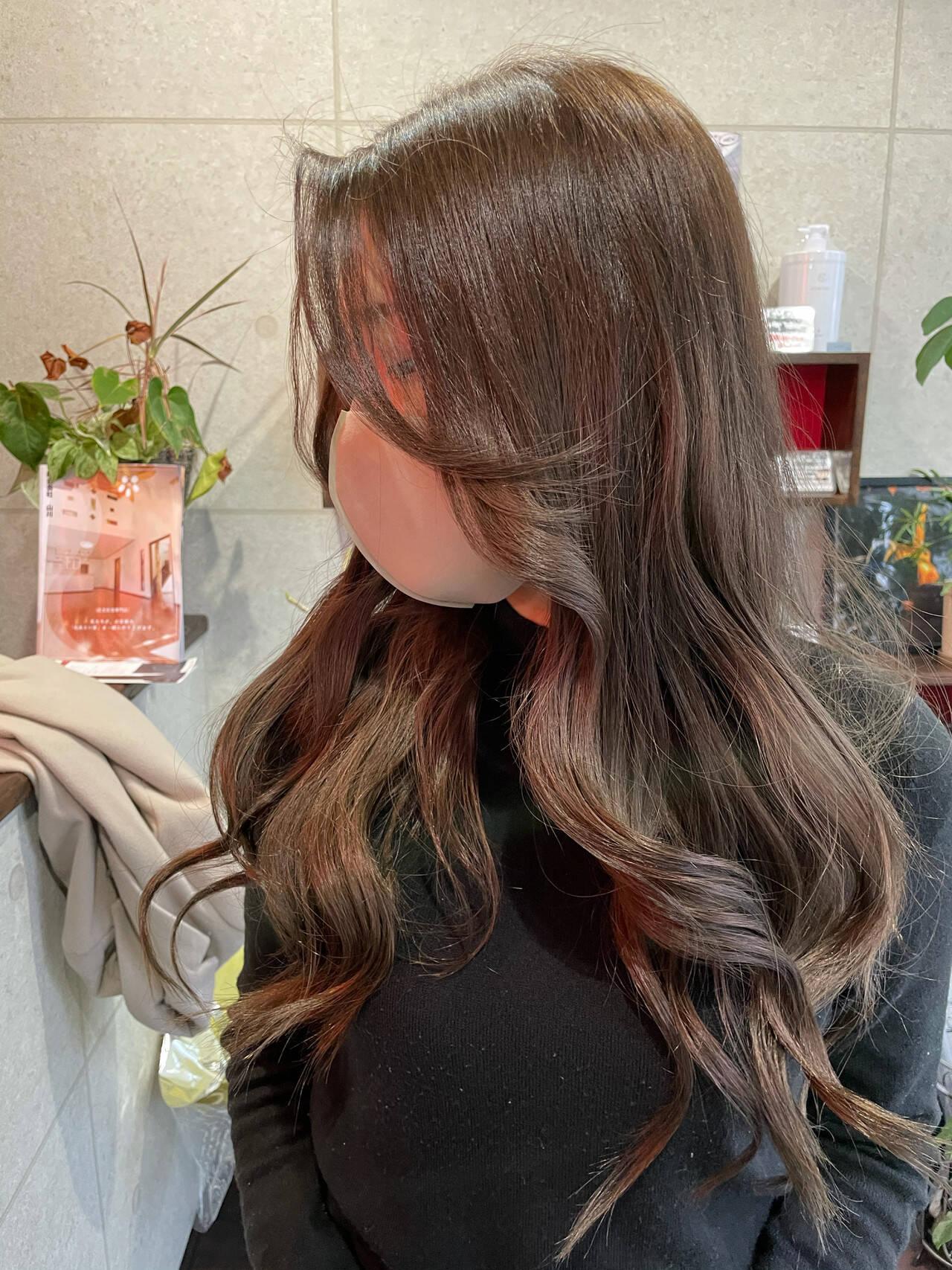前髪アレンジ 韓国風ヘアー エレガント 流し前髪ヘアスタイルや髪型の写真・画像