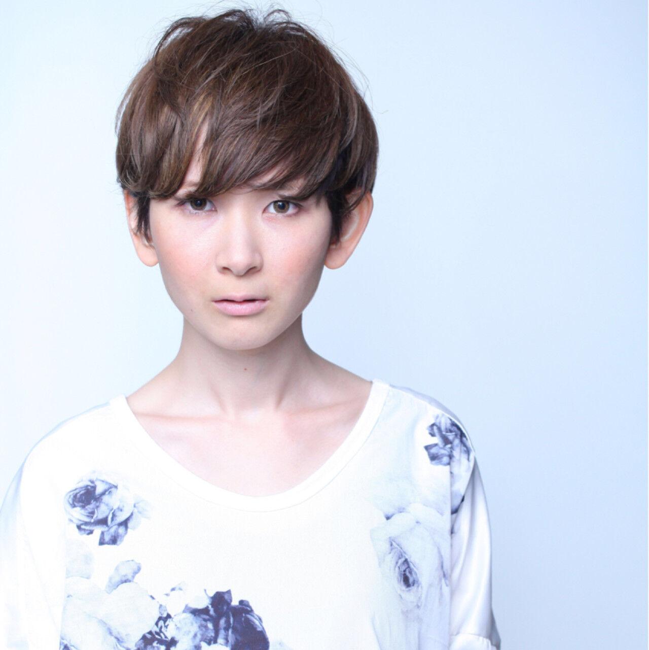 大人かわいい ショート 外国人風 グラデーションカラーヘアスタイルや髪型の写真・画像