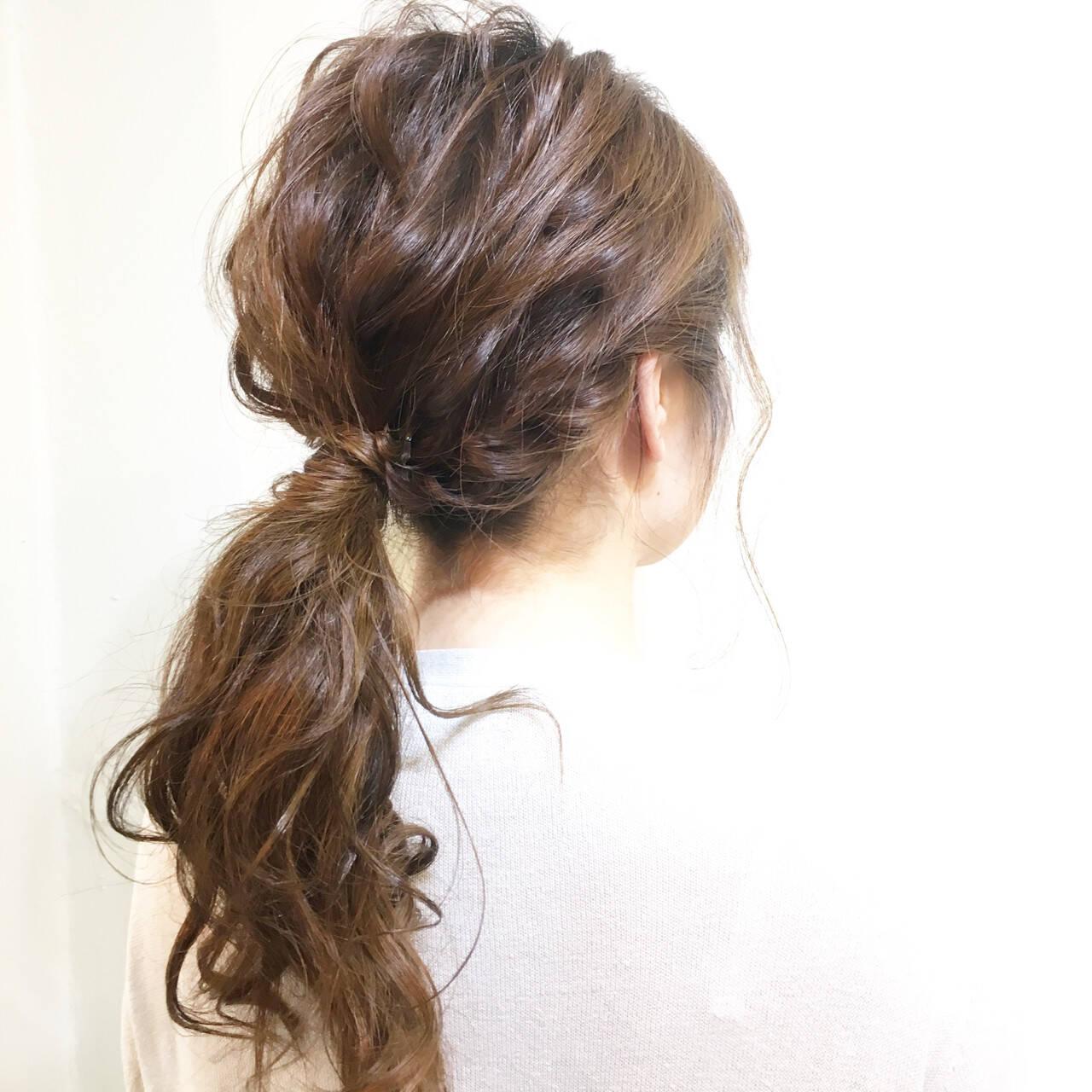 簡単ヘアアレンジ 編み込み 簡単 夏ヘアスタイルや髪型の写真・画像