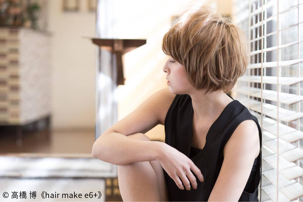 ショート 似合わせ 爽やか 小顔ヘアスタイルや髪型の写真・画像