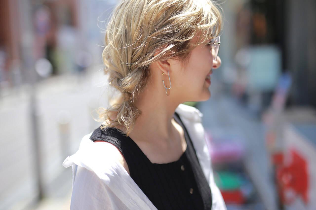 フェミニン デート 海系 ヘアアレンジヘアスタイルや髪型の写真・画像