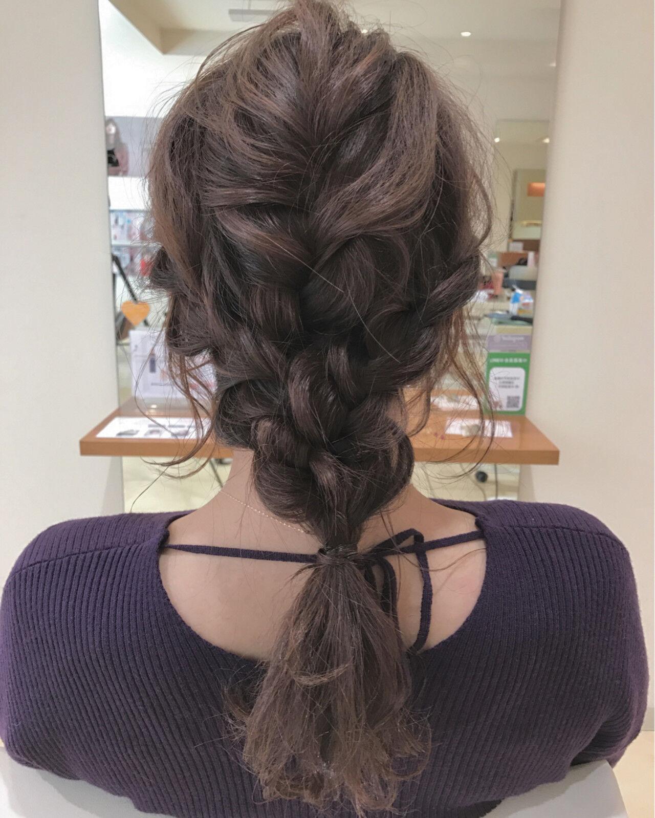 ロング 編み込み 結婚式 ヘアアレンジヘアスタイルや髪型の写真・画像