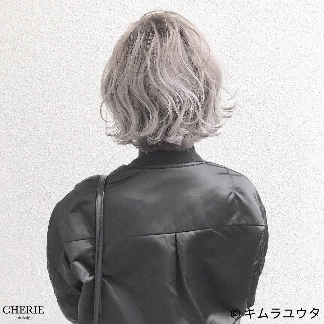 外国人風 ブリーチ ショート ハイトーンヘアスタイルや髪型の写真・画像
