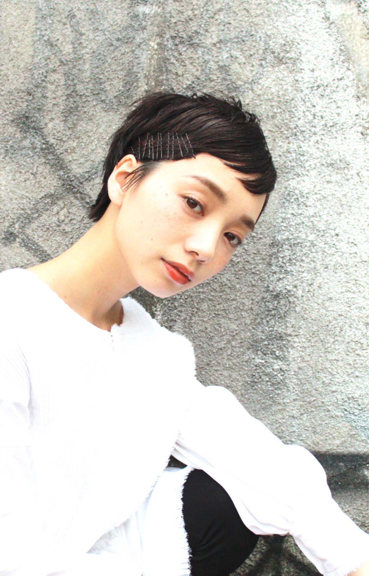 モード ショート ストリート ナチュラルヘアスタイルや髪型の写真・画像