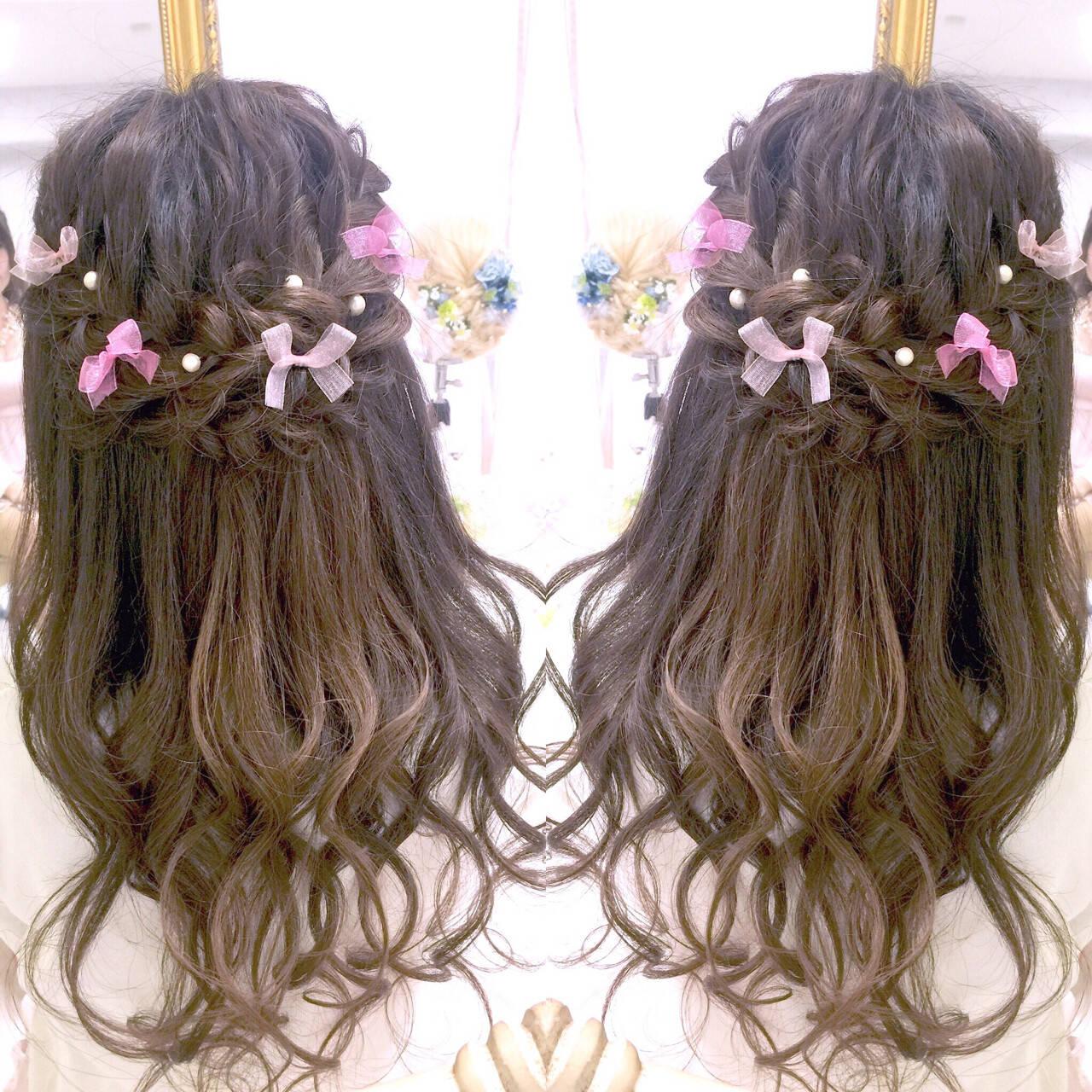フェミニン 夏 大人かわいい ロングヘアスタイルや髪型の写真・画像