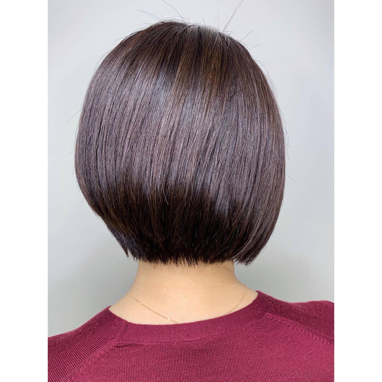 モード ボブ ショートボブ ショートヘアスタイルや髪型の写真・画像