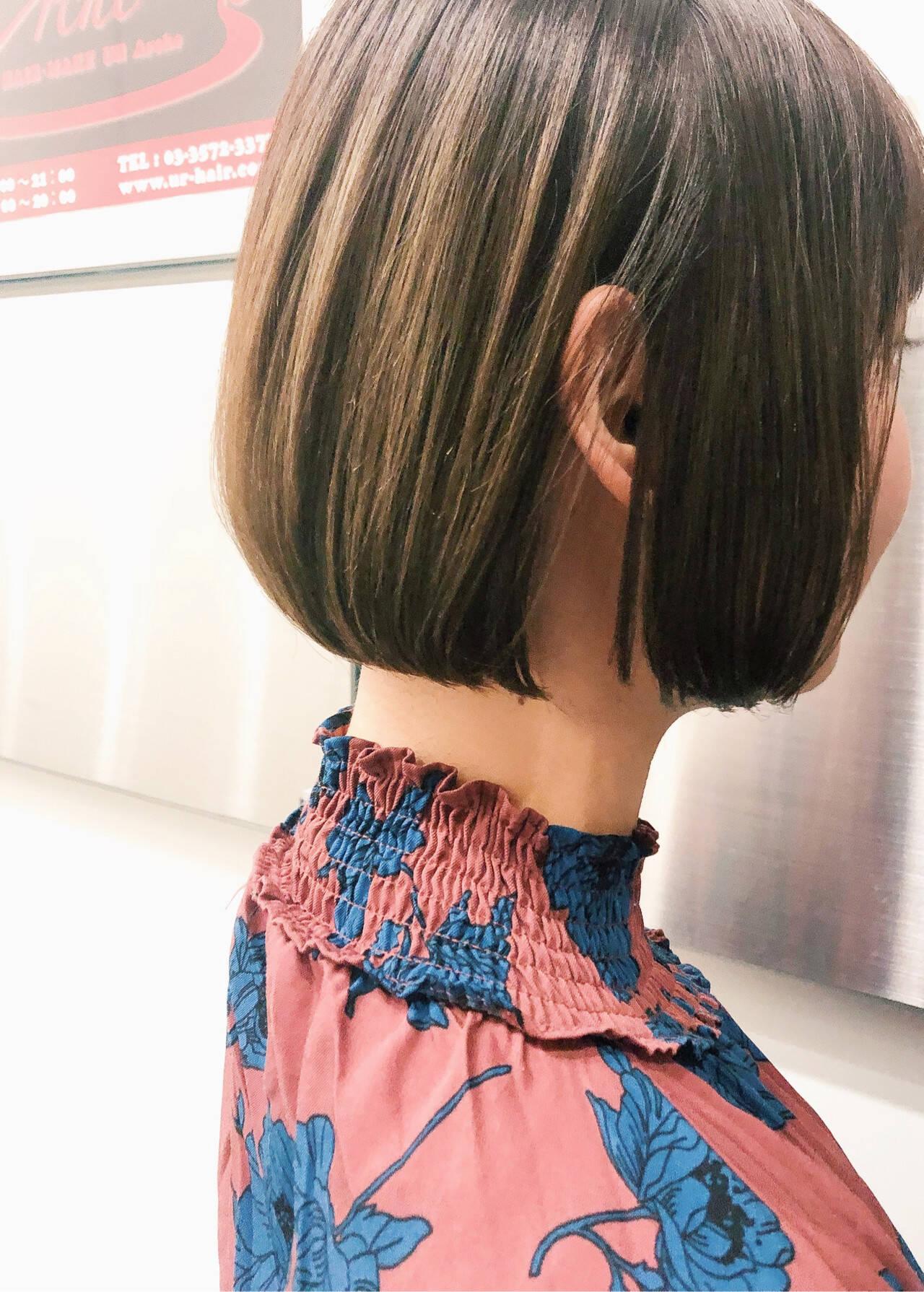 ショートボブ ボブ 切りっぱなしボブ ショートヘアヘアスタイルや髪型の写真・画像