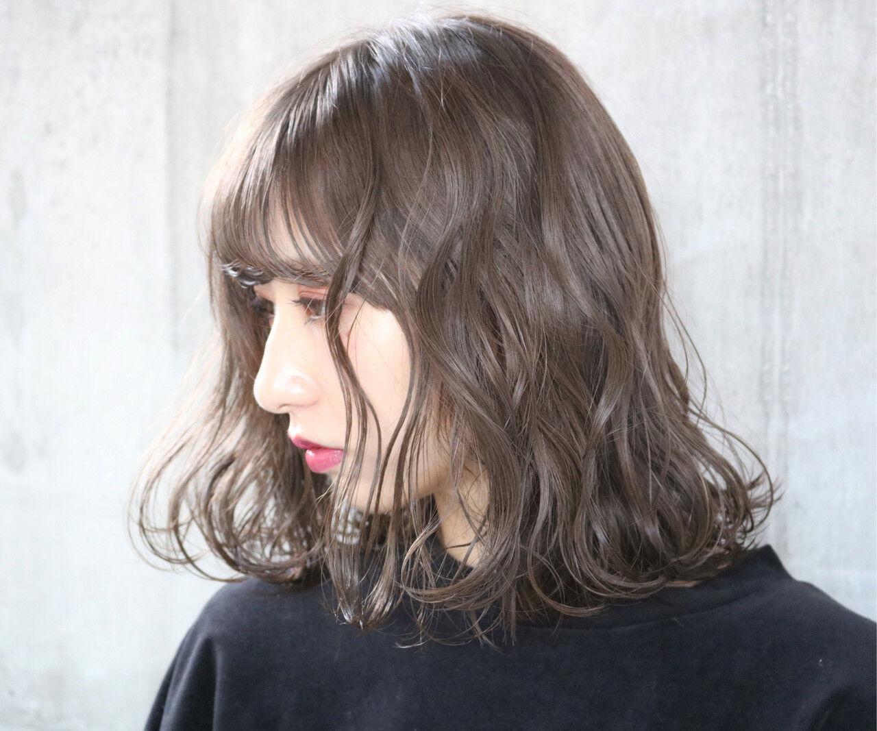 アンニュイほつれヘア 切りっぱなしボブ 外国人風 外国人風カラーヘアスタイルや髪型の写真・画像