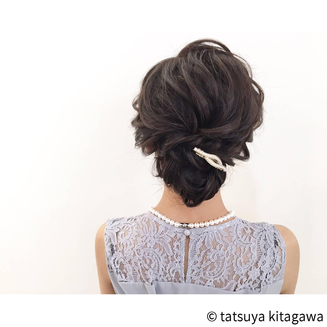 上品 外国人風 ヘアアレンジ アップスタイルヘアスタイルや髪型の写真・画像
