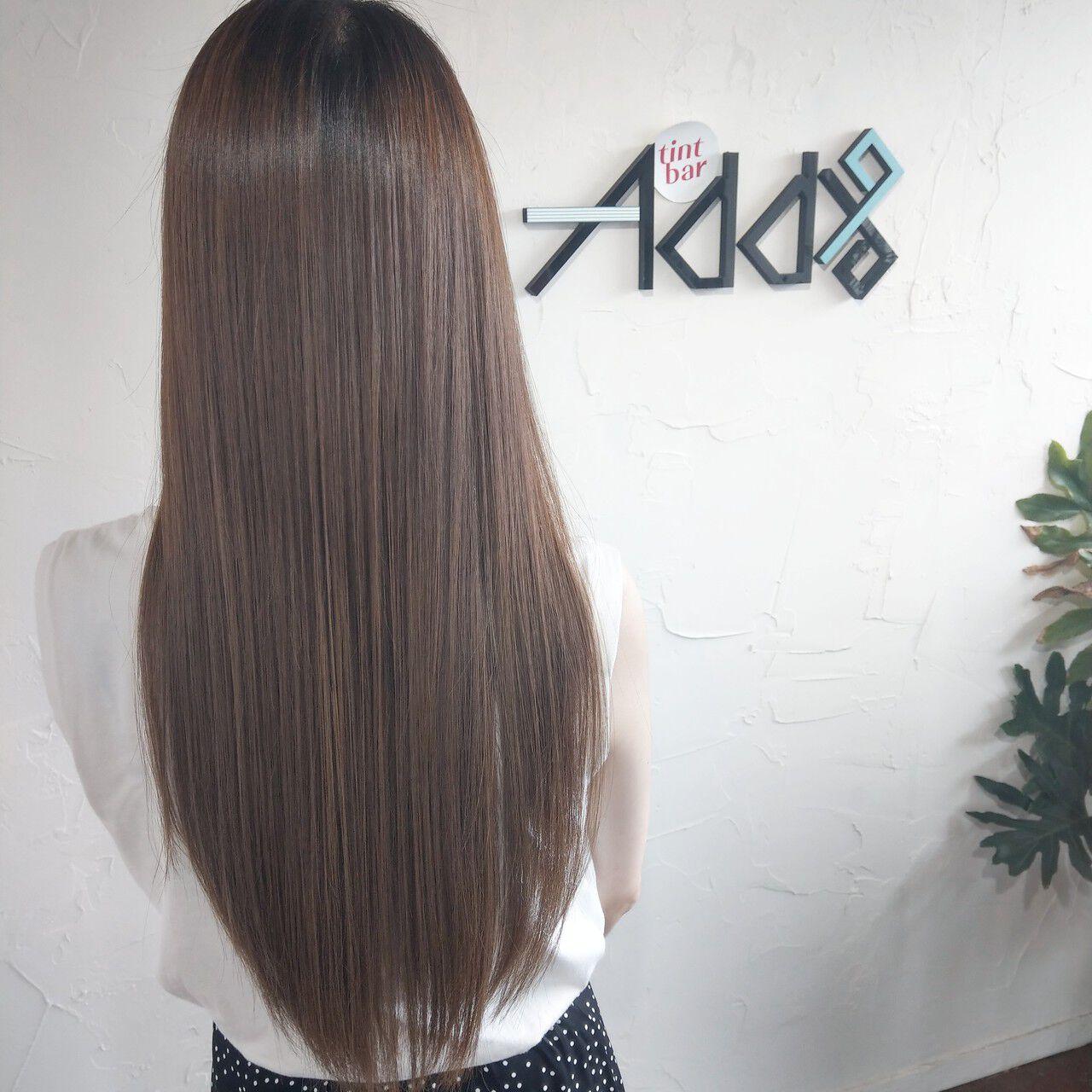 髪質改善トリートメント 韓国 エアーストレート ナチュラルヘアスタイルや髪型の写真・画像