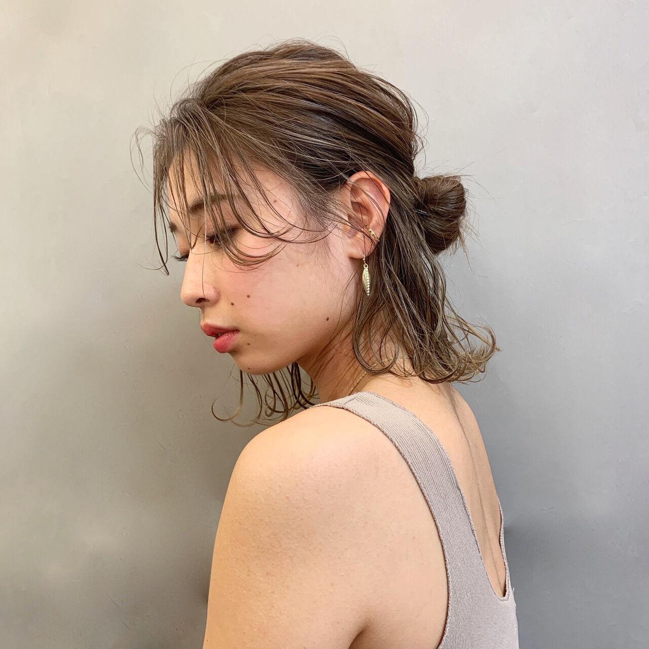 デート オフィス ナチュラル 簡単ヘアアレンジヘアスタイルや髪型の写真・画像