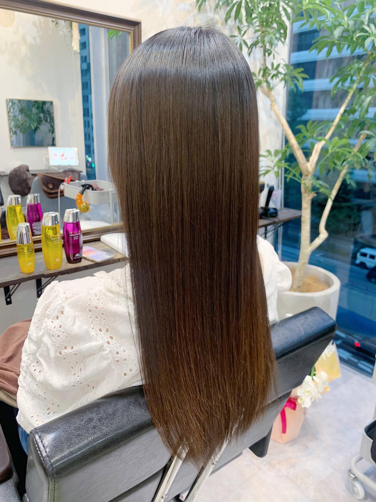 ロングヘア 髪質改善トリートメント 大人かわいい 髪質改善ヘアスタイルや髪型の写真・画像
