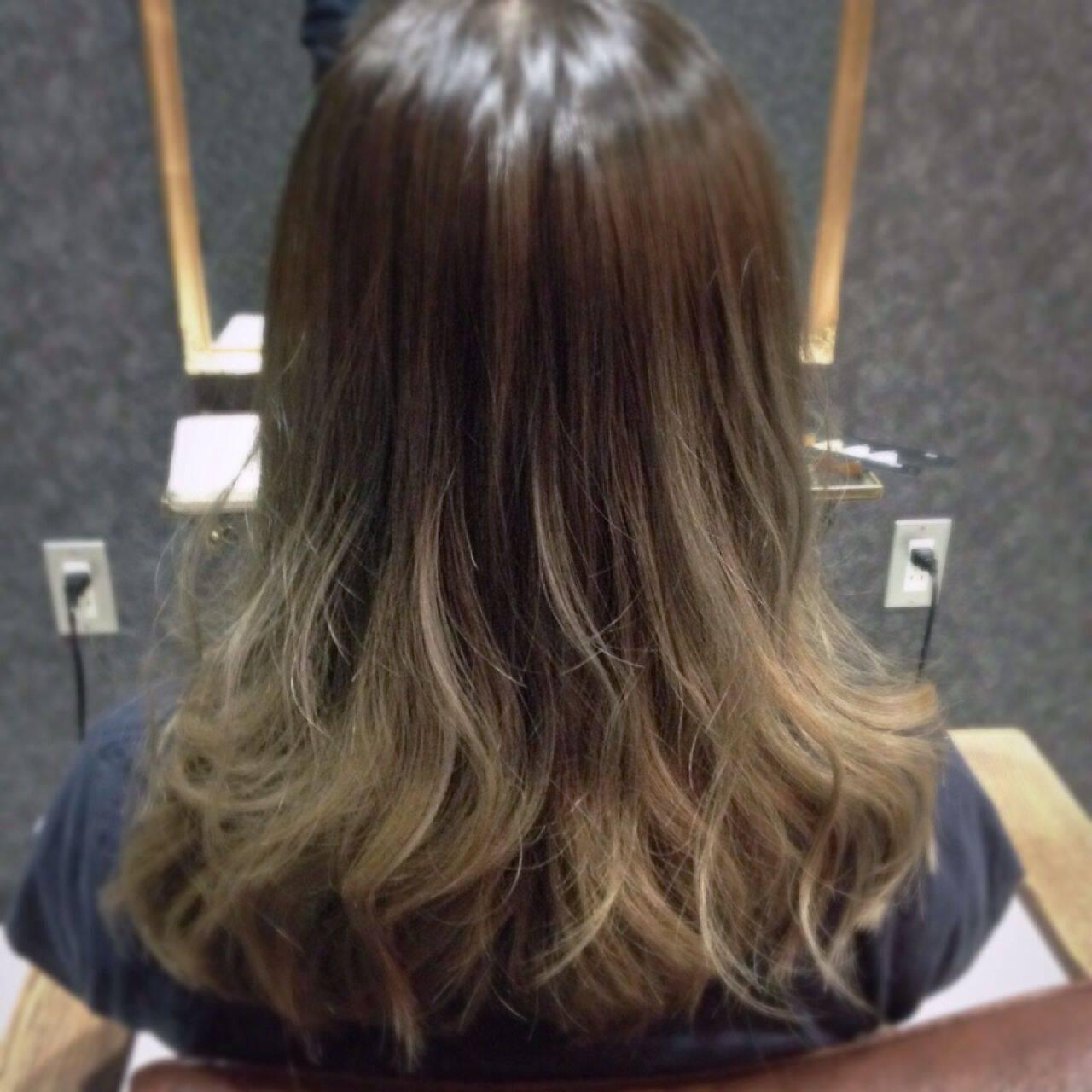 アッシュグレージュ 外国人風 グレージュ 外国人風カラーヘアスタイルや髪型の写真・画像