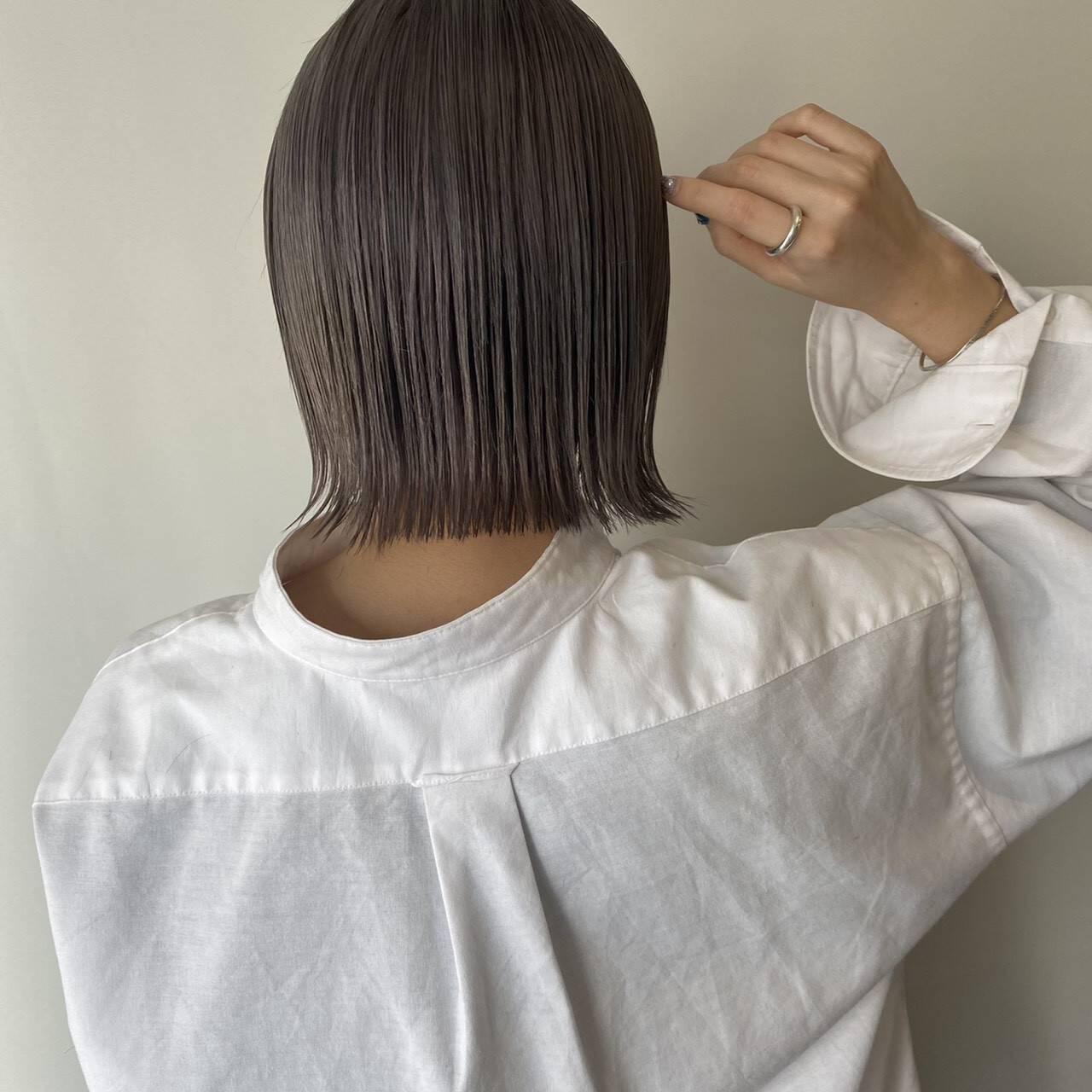 ハイトーンカラー ナチュラル ヘアカラー ブリーチカラーヘアスタイルや髪型の写真・画像