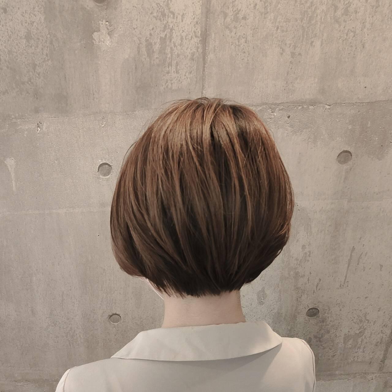 ハンサムボブ ショートボブ ショートヘア ハンサムショートヘアスタイルや髪型の写真・画像