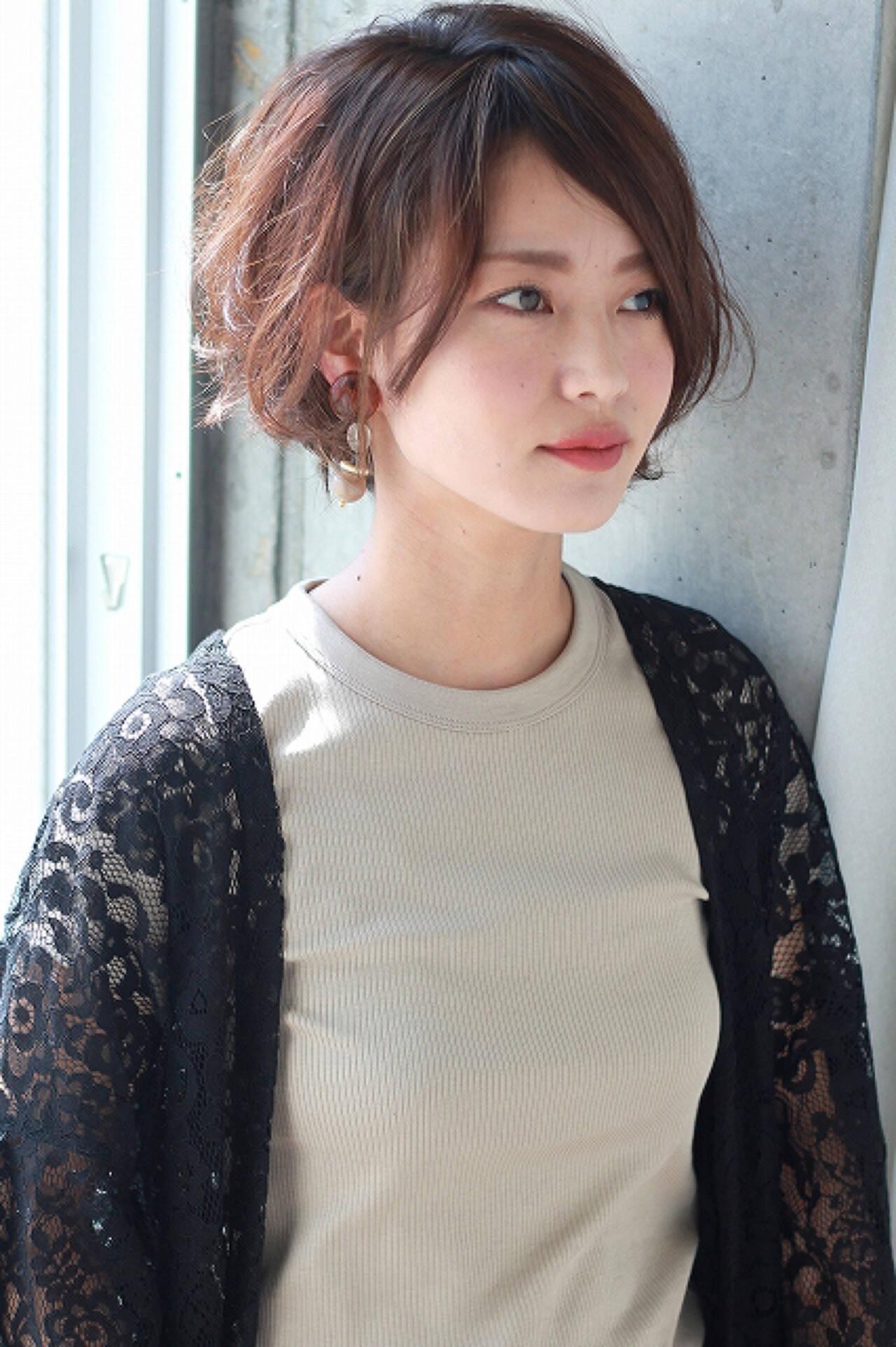 外国人風 大人女子 ニュアンス ショートヘアスタイルや髪型の写真・画像