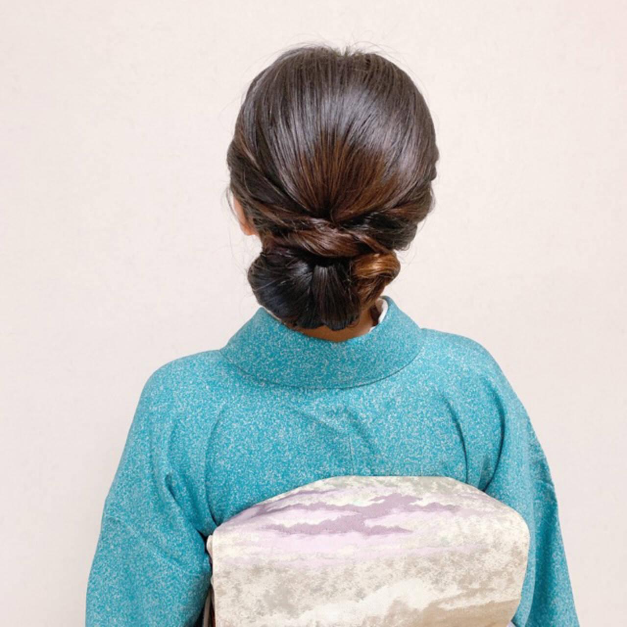 ミディアム 結婚式ヘアアレンジ 和装ヘア お呼ばれヘアスタイルや髪型の写真・画像