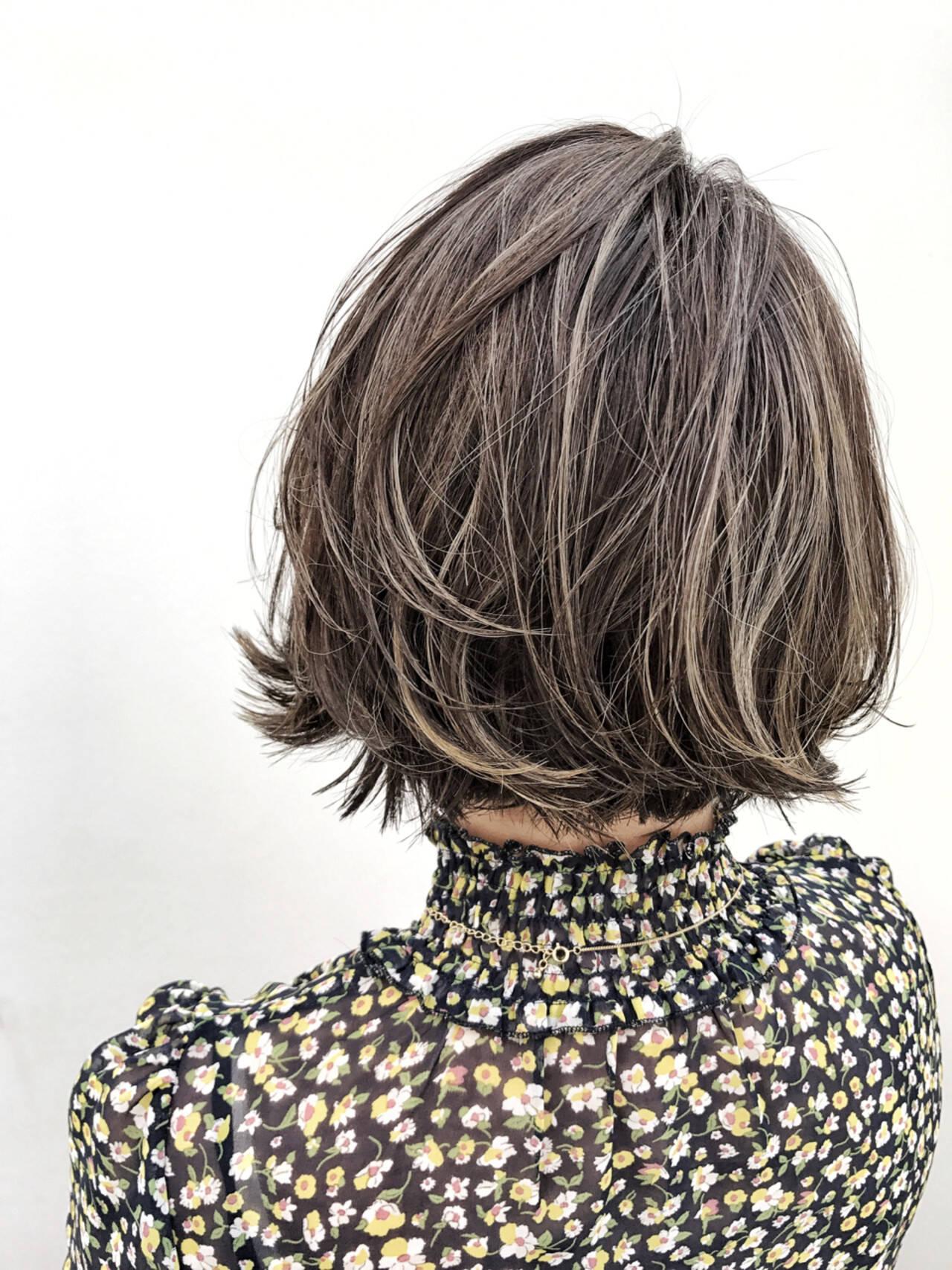 ナチュラル 外国人風 涼しげ ボブヘアスタイルや髪型の写真・画像