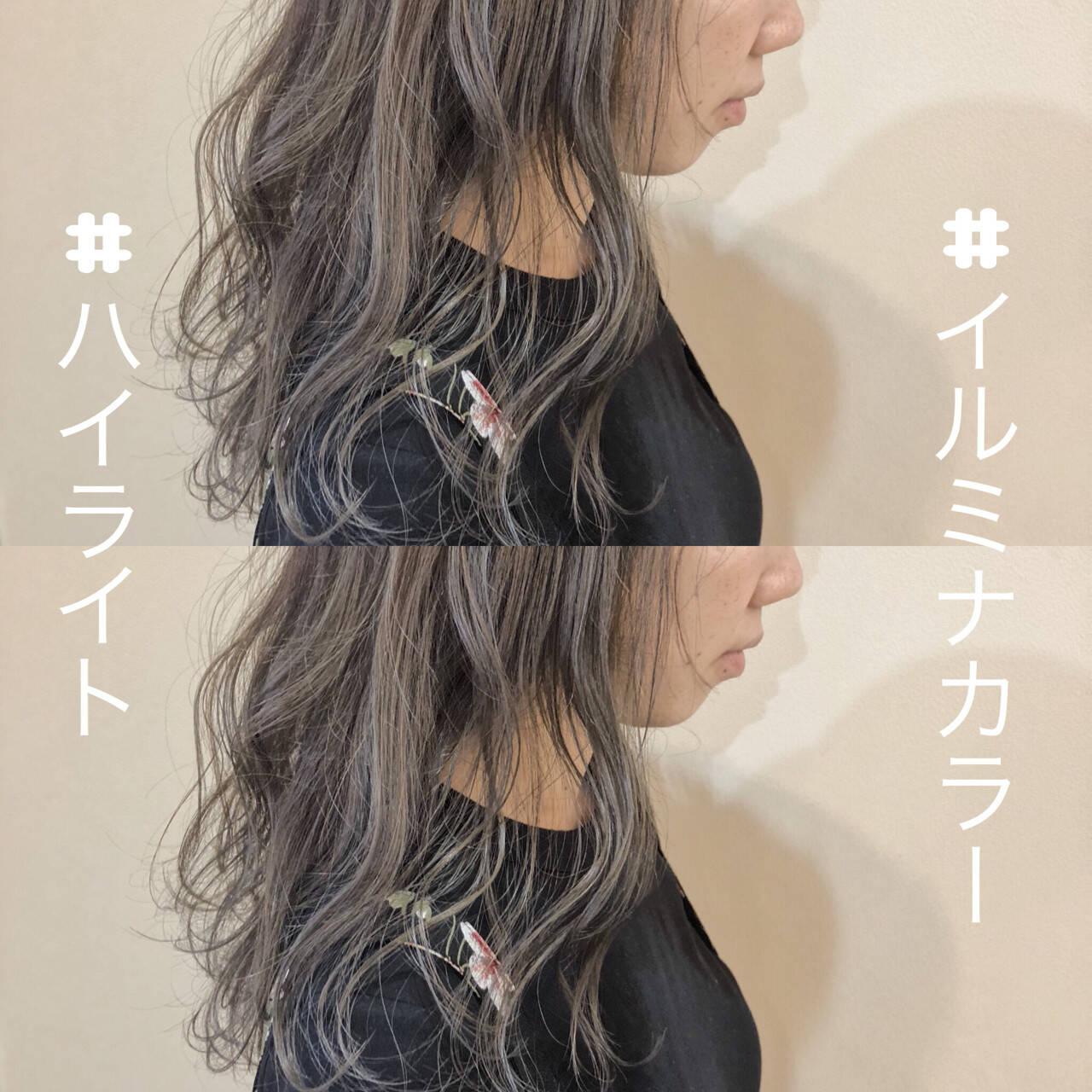 ロング ガーリー グレージュ 波ウェーブヘアスタイルや髪型の写真・画像