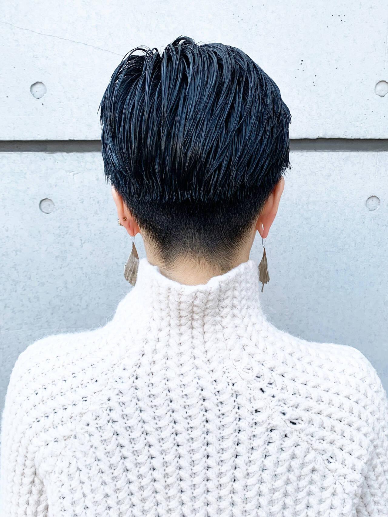 ショートヘア ショート 刈り上げショート 刈り上げ女子ヘアスタイルや髪型の写真・画像