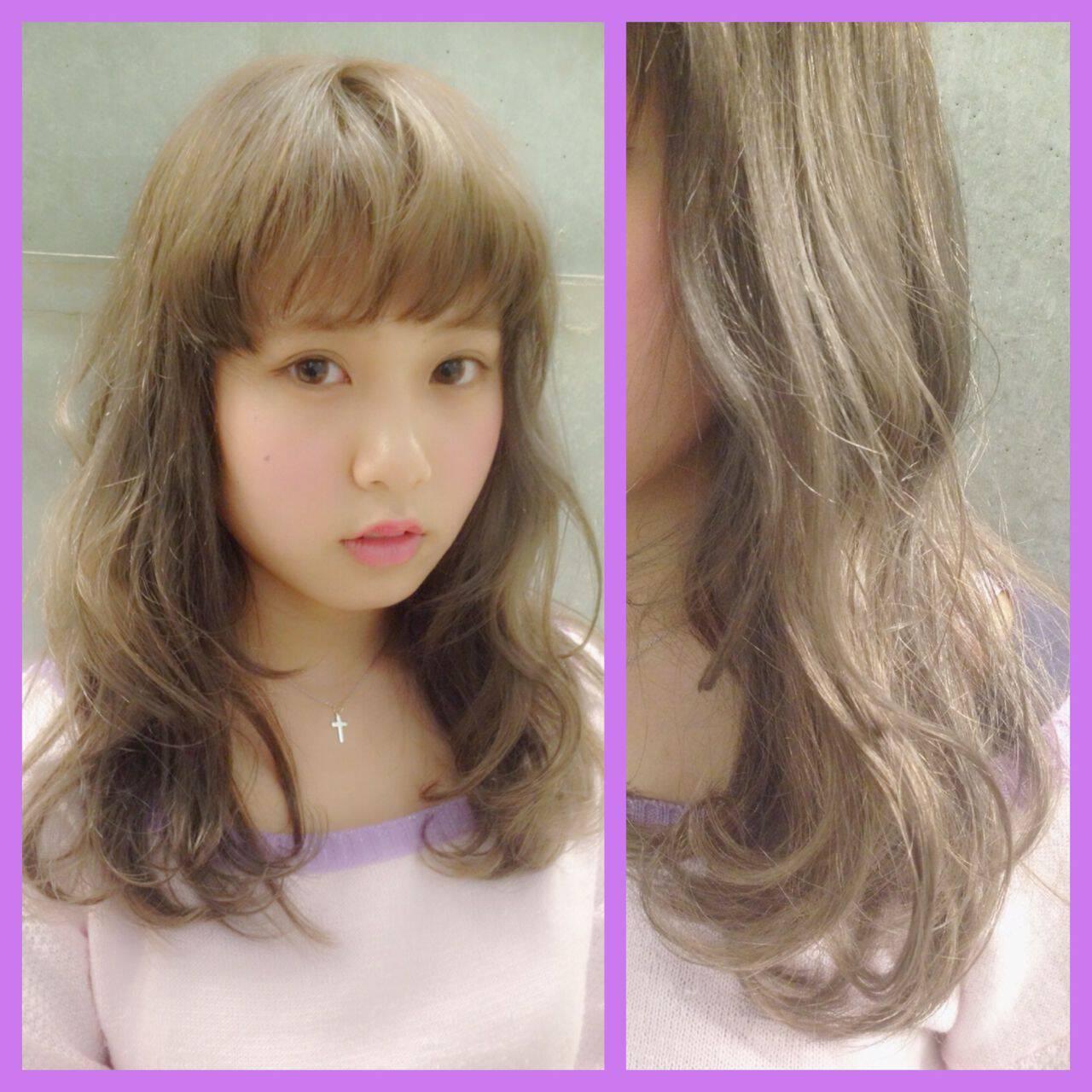 セミロング ストリート ハイトーン パンクヘアスタイルや髪型の写真・画像