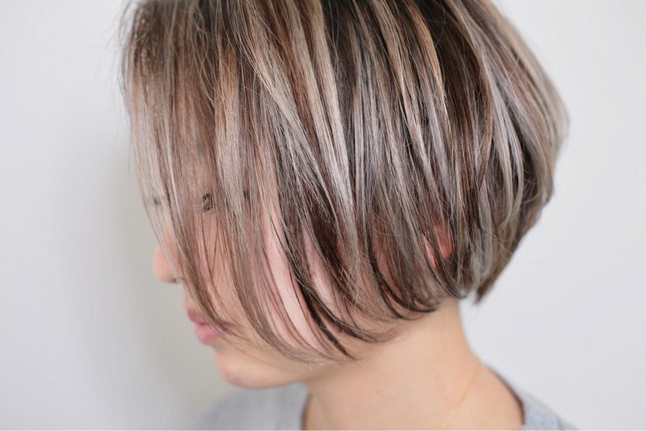 ハイライト 外国人風カラー 外国人風 ボブヘアスタイルや髪型の写真・画像