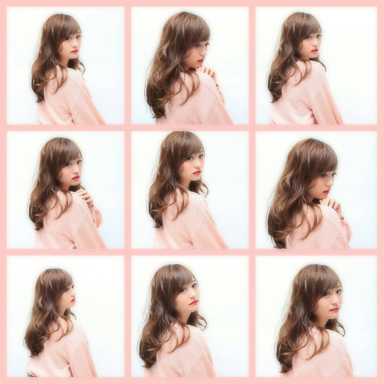 ゆるふわ 冬 フェミニン ガーリーヘアスタイルや髪型の写真・画像