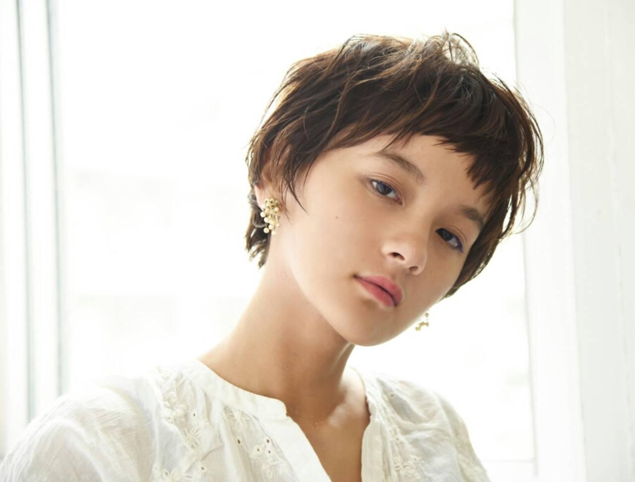 前髪あり ベリーショート ショート 秋ヘアスタイルや髪型の写真・画像
