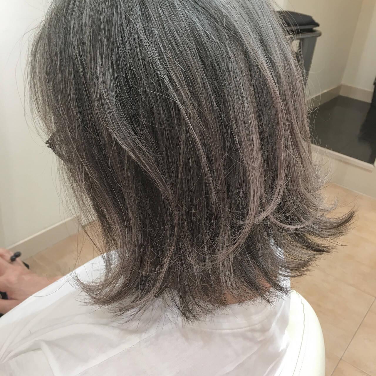 外ハネボブ 40代 大人ヘアスタイル 50代ヘアスタイルや髪型の写真・画像