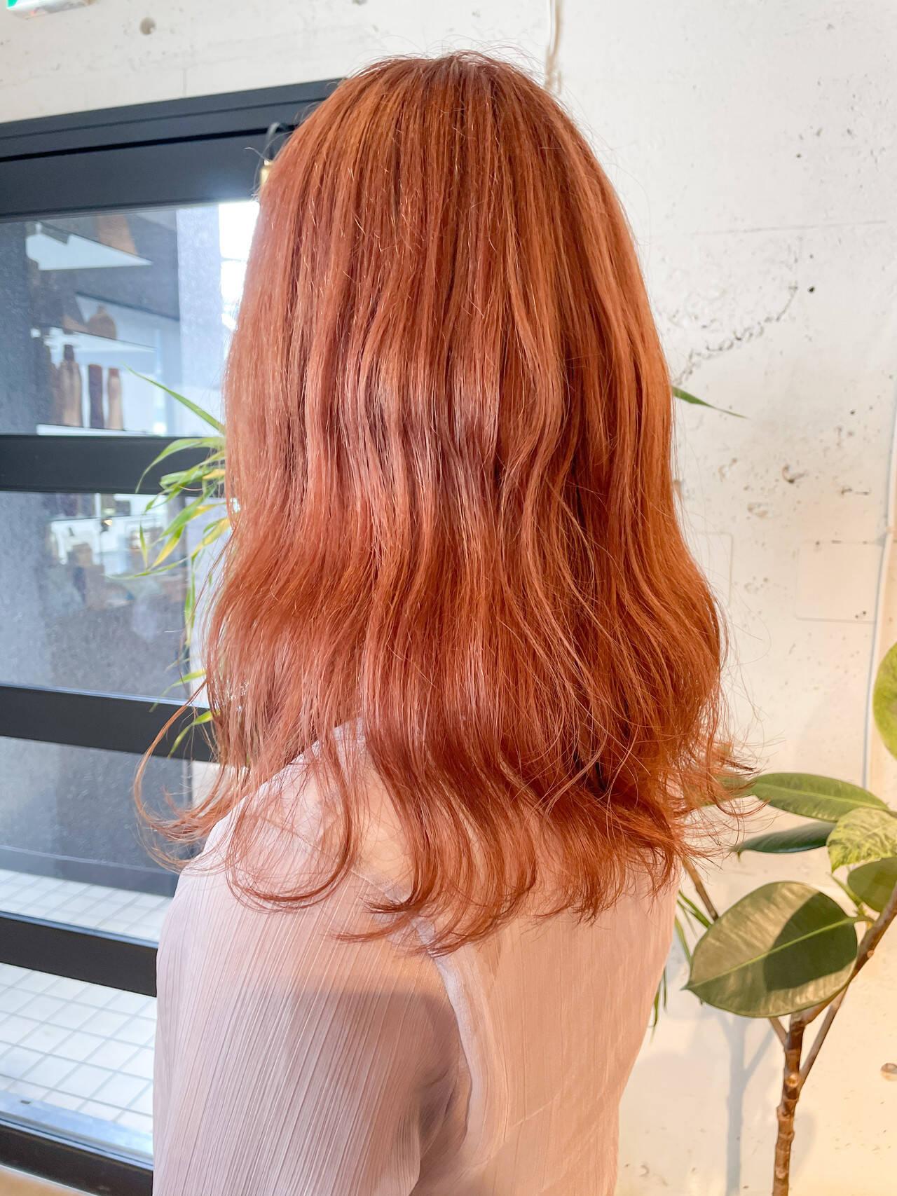 ヨシンモリ 韓国ヘア ナチュラル 透明感カラーヘアスタイルや髪型の写真・画像