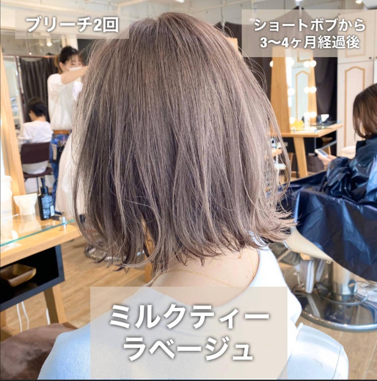 モテボブ ボブ 切りっぱなしボブ 簡単ヘアアレンジヘアスタイルや髪型の写真・画像