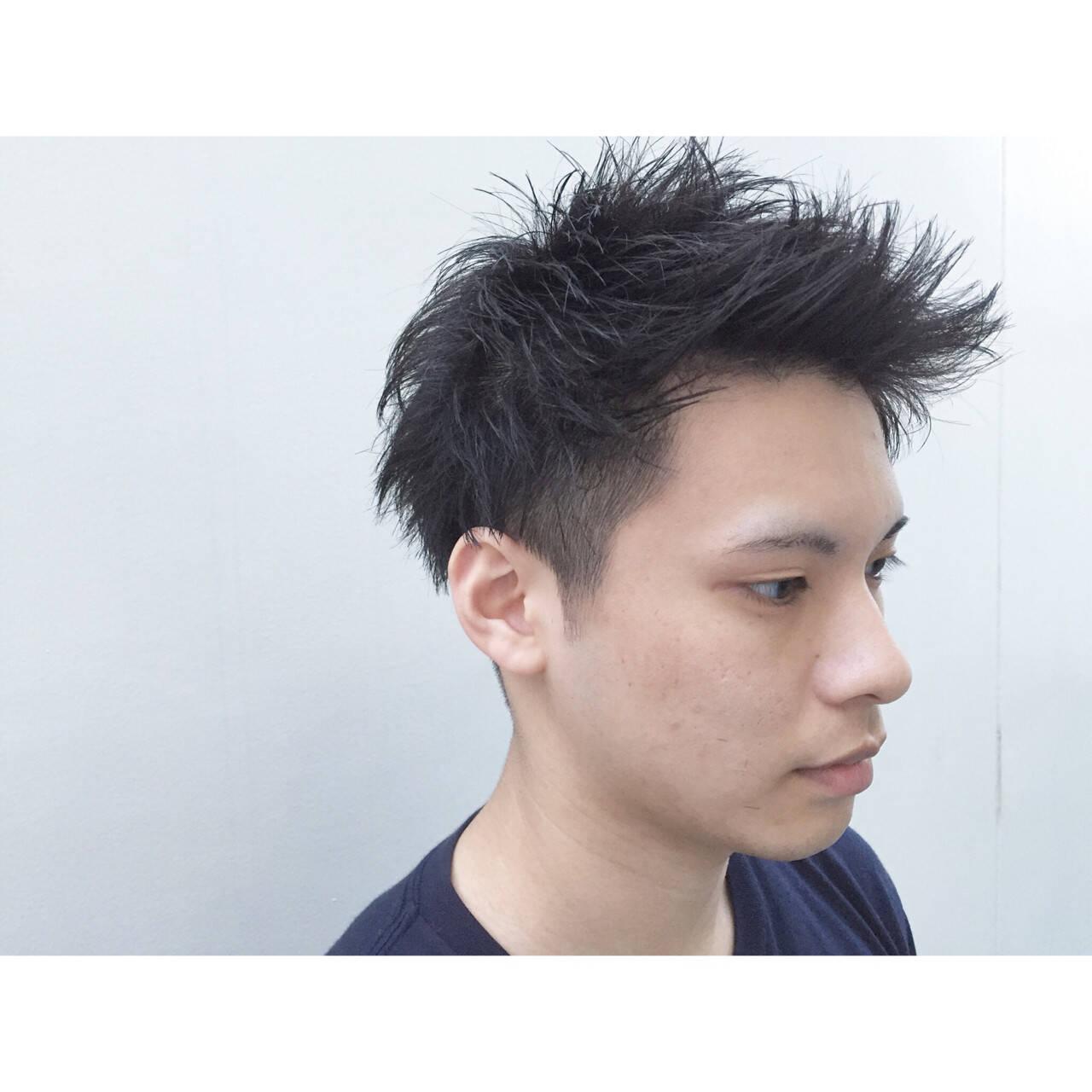 ナチュラル パーマ ショート 刈り上げヘアスタイルや髪型の写真・画像
