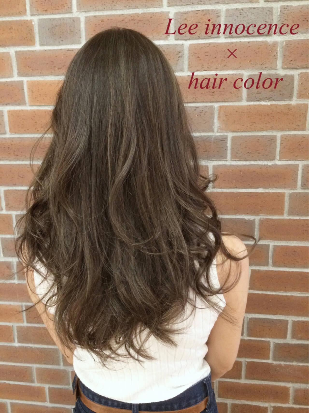 アッシュ 外国人風 グラデーションカラー ハイライトヘアスタイルや髪型の写真・画像