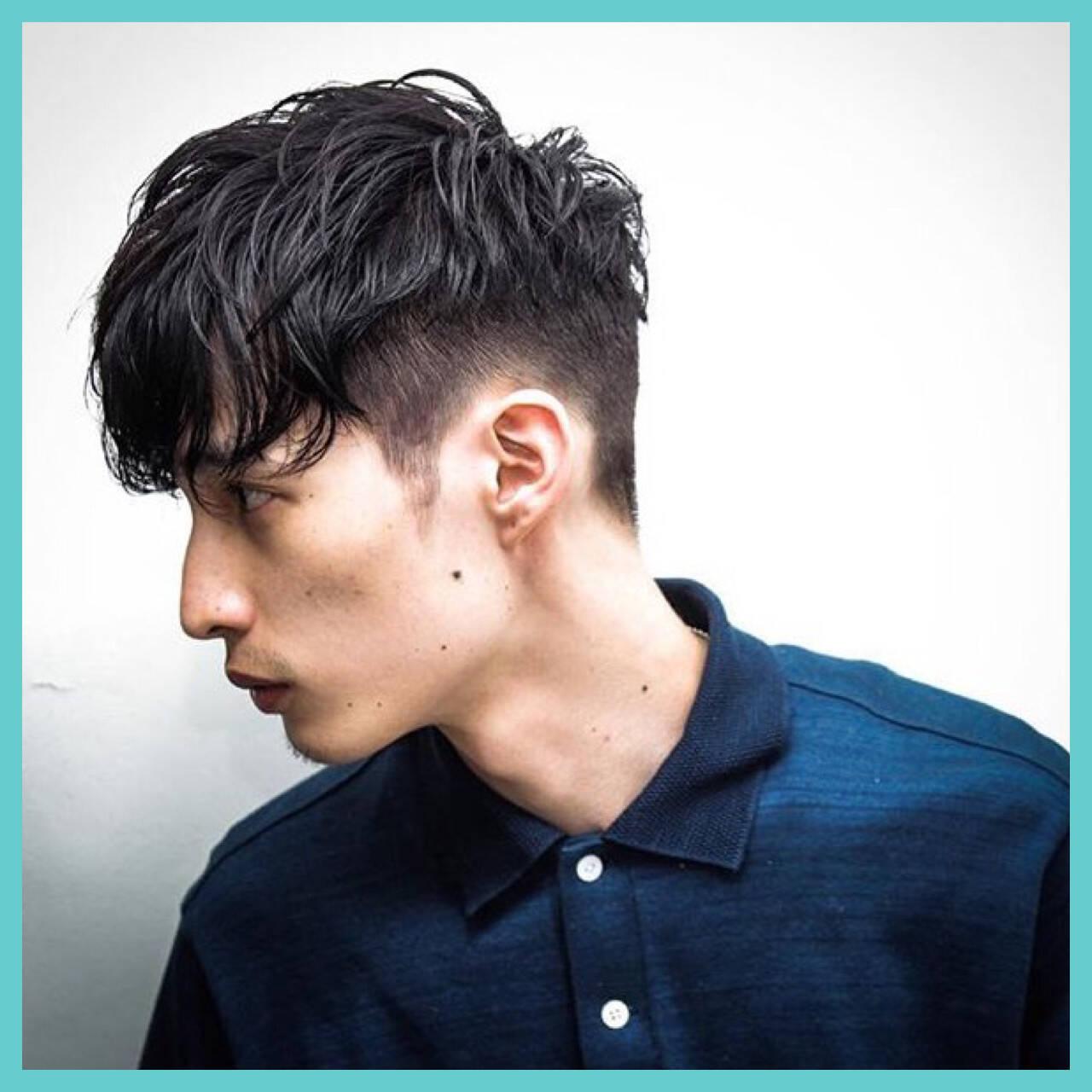 外国人風 ショート ストリート 黒髪ヘアスタイルや髪型の写真・画像