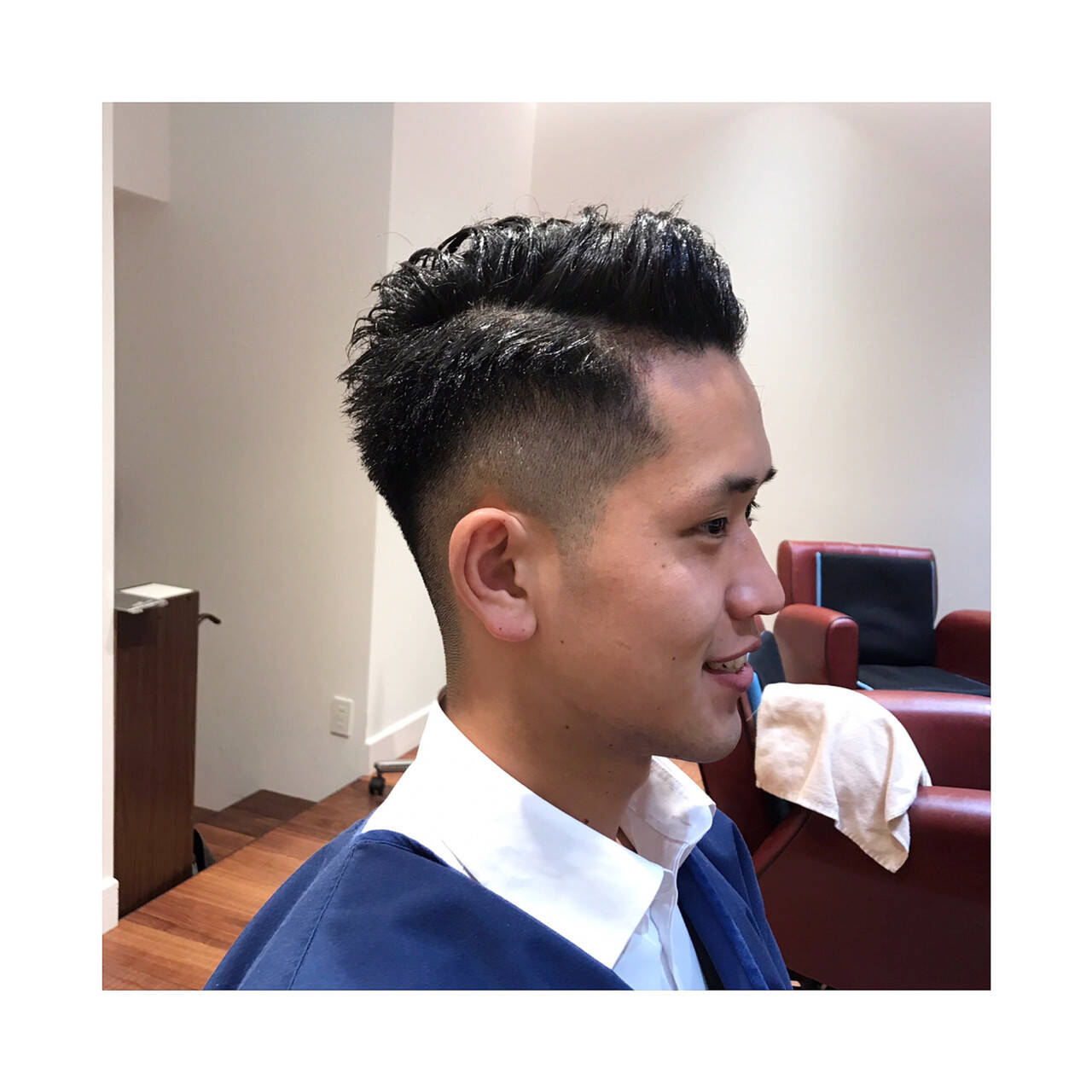 ナチュラル 刈り上げ メンズカット ショートヘアスタイルや髪型の写真・画像