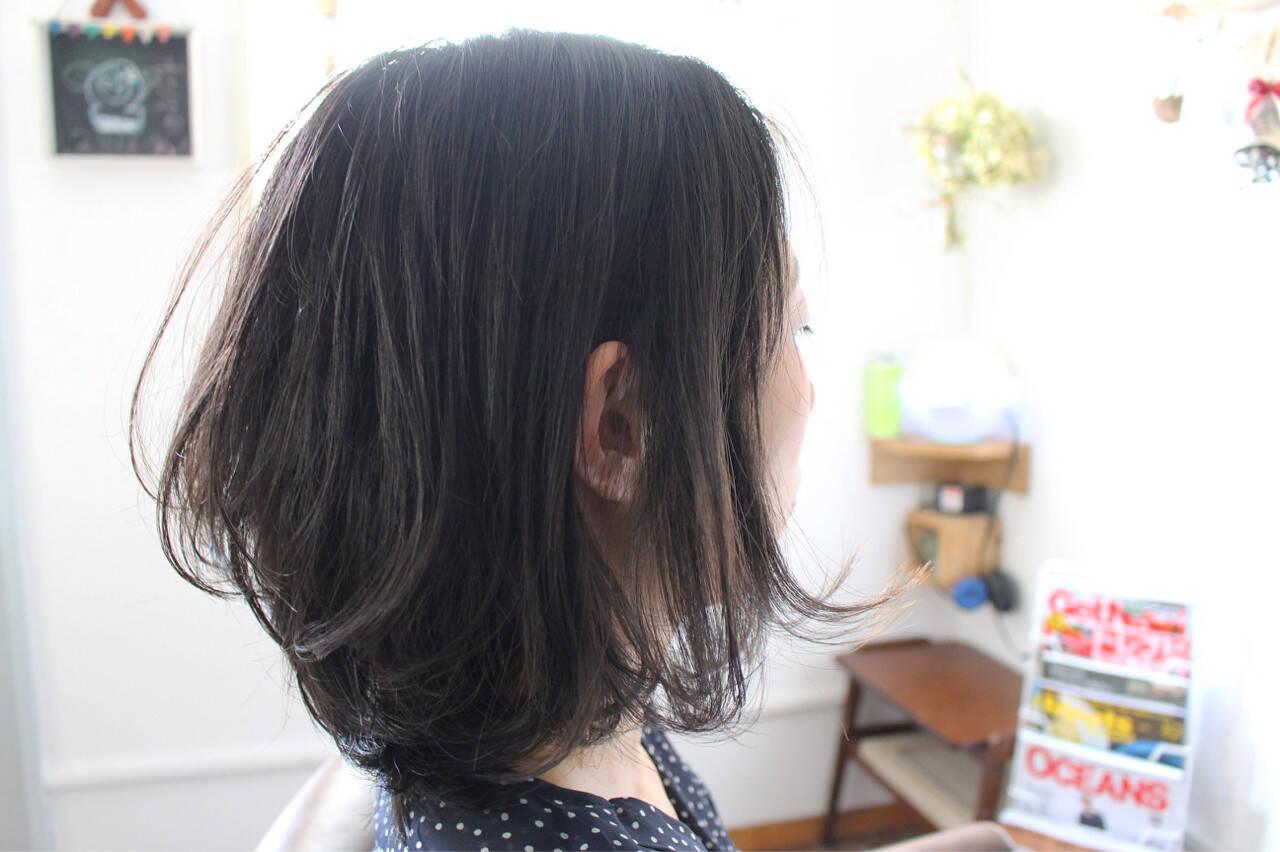 ヘアアレンジ 色気 パーマ 黒髪ヘアスタイルや髪型の写真・画像