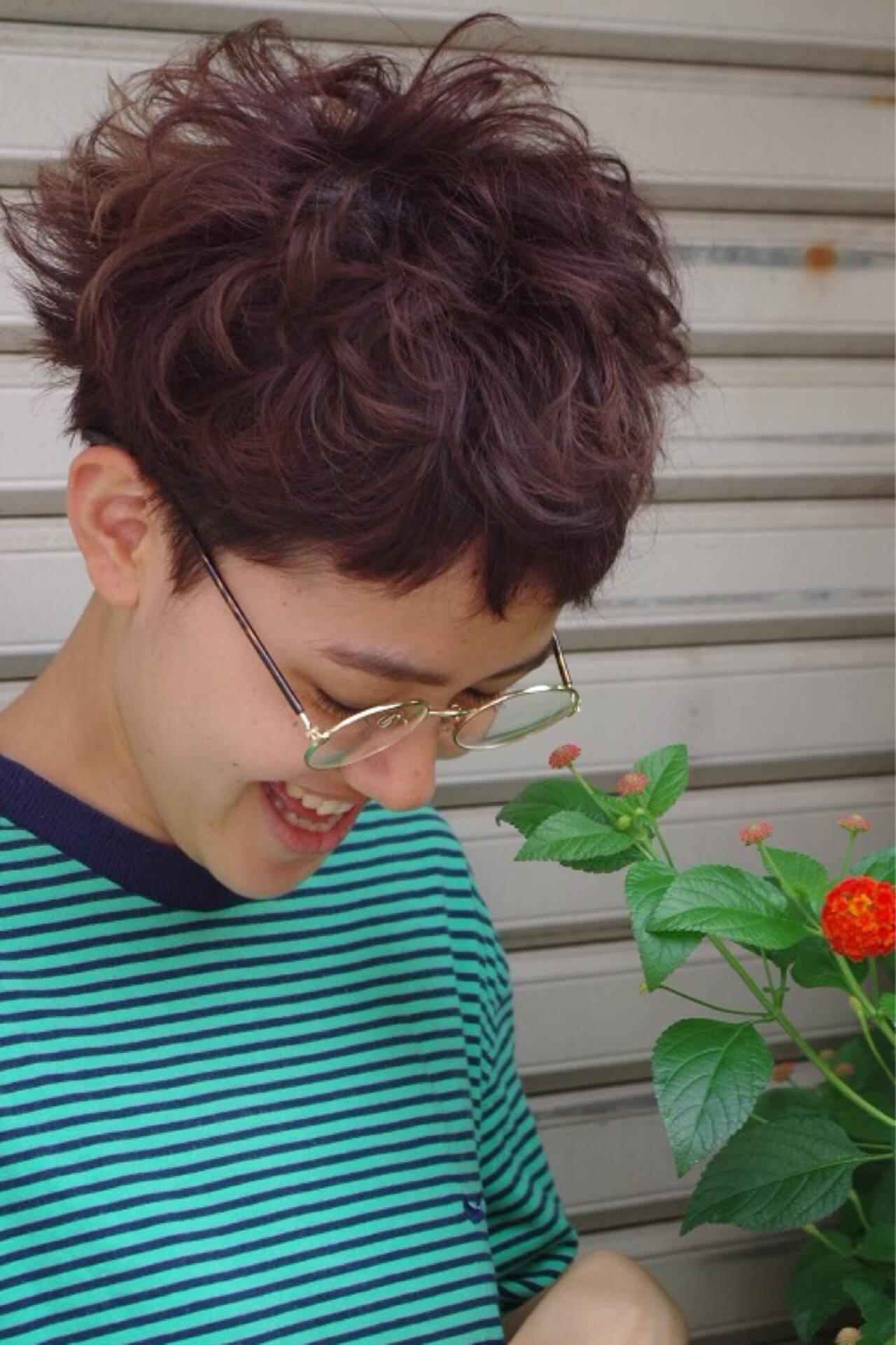 ストリート アッシュ ピュア パーマヘアスタイルや髪型の写真・画像