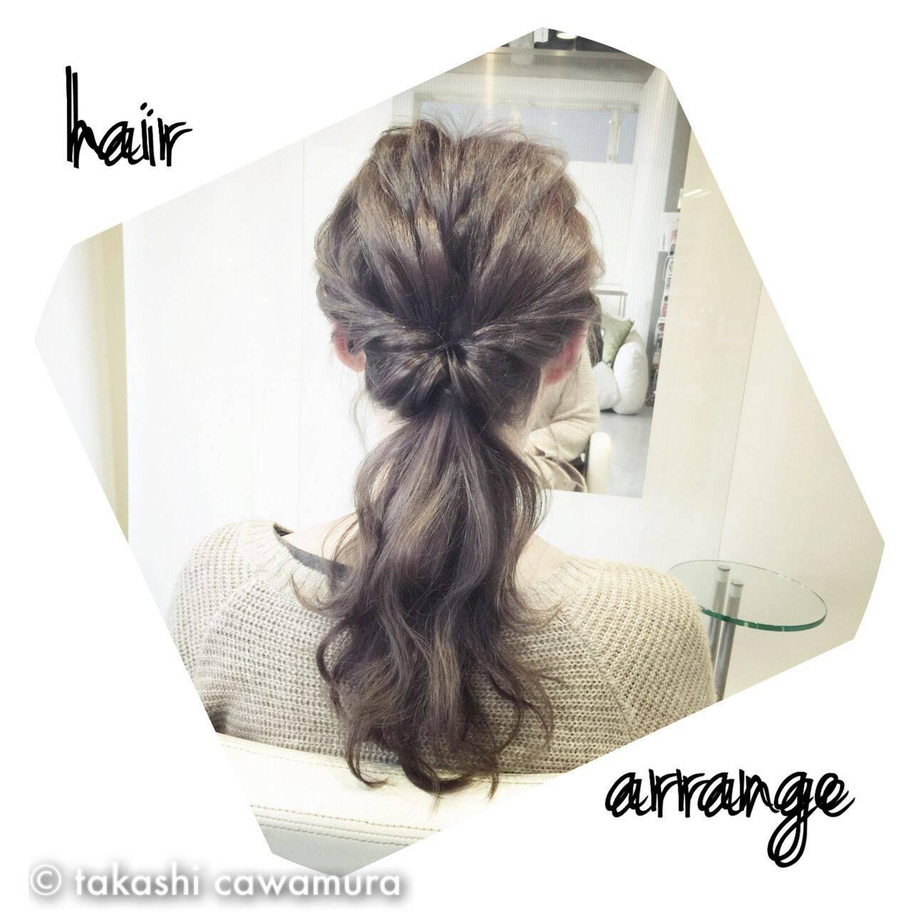 ヘアアレンジ コンサバ モテ髪 簡単ヘアアレンジヘアスタイルや髪型の写真・画像