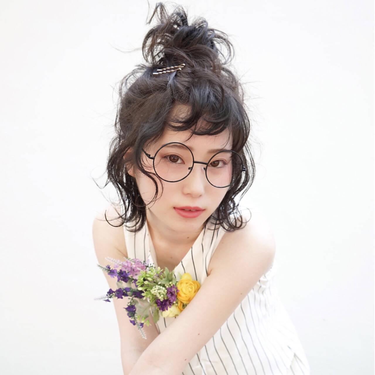 結婚式 ガーリー 黒髪 ヘアアレンジヘアスタイルや髪型の写真・画像