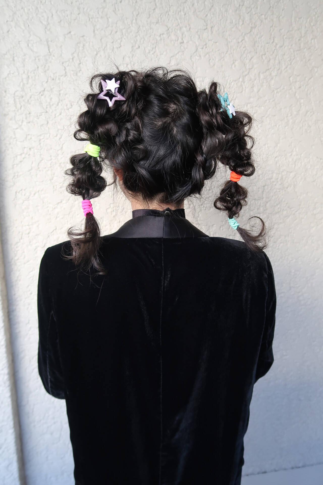 パーティー 結婚式 ツインテール ガーリーヘアスタイルや髪型の写真・画像