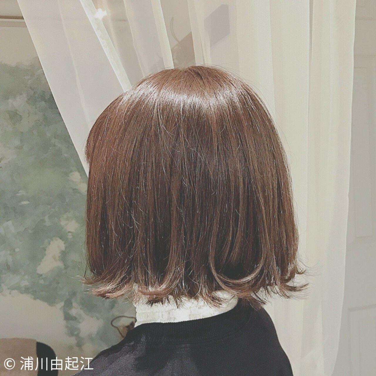 大人かわいい ゆるふわ ナチュラル ショートヘアスタイルや髪型の写真・画像