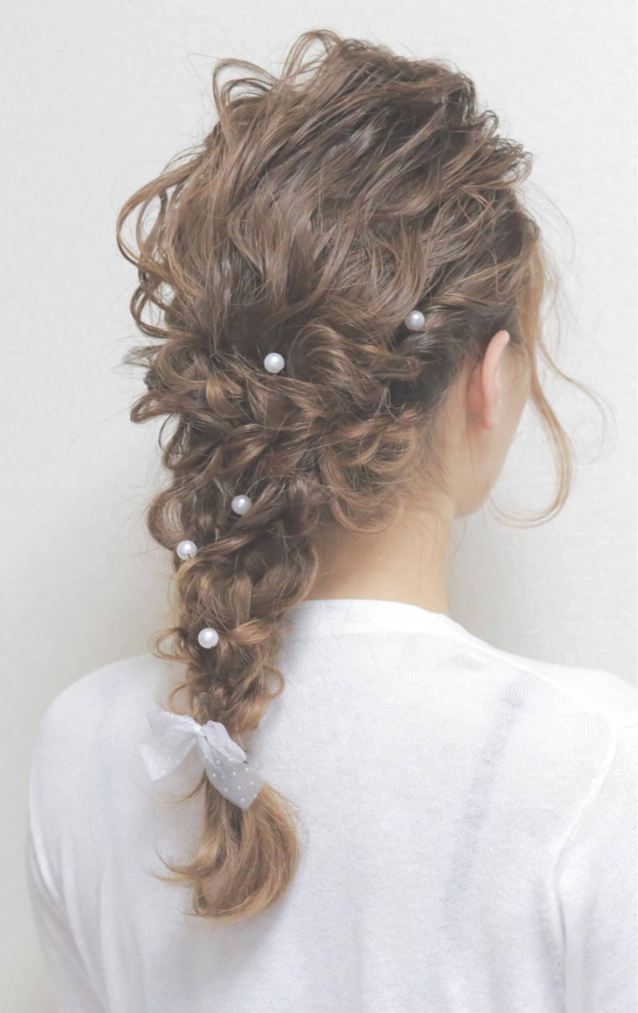 愛され ヘアアレンジ ナチュラル ショートヘアスタイルや髪型の写真・画像